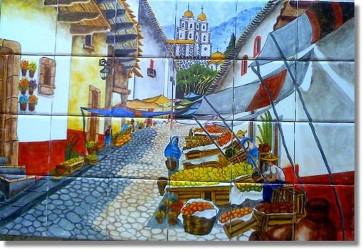 Custom Made Hand Painted Ceramic Tile Murals