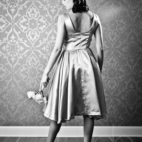594ce6b584 Mimi - 1950 S Style Purple Satin Full-Skirt by Hannah Brown