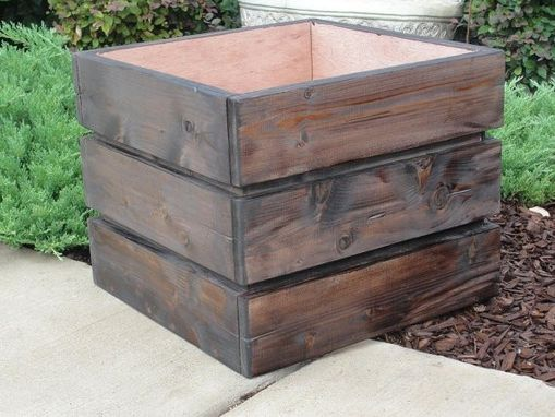 Custom Made Large Wood Planter
