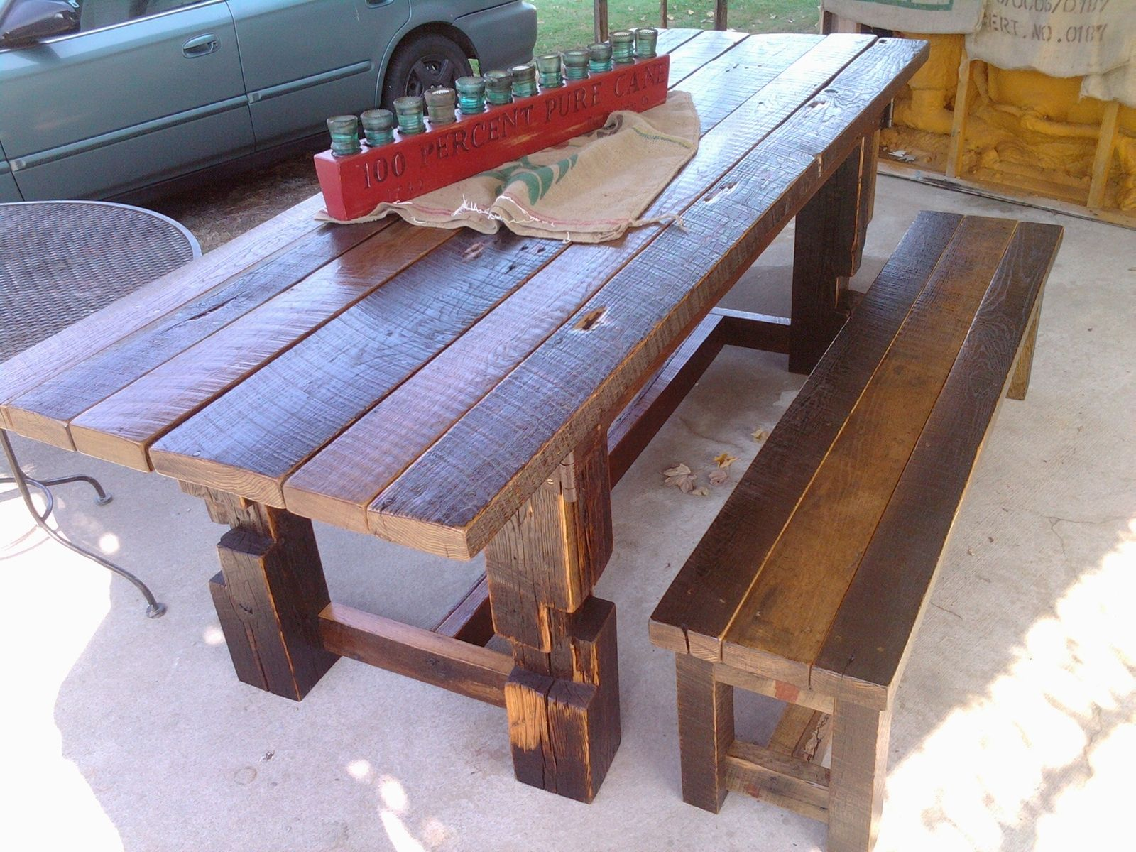 Awesome Custom Made Rustic Barn Wood Harvest Table By Born In A Barn Alphanode Cool Chair Designs And Ideas Alphanodeonline