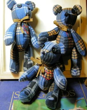 "Custom Made ""His Favorite Flannel Shirt"" Six Inch Bears"