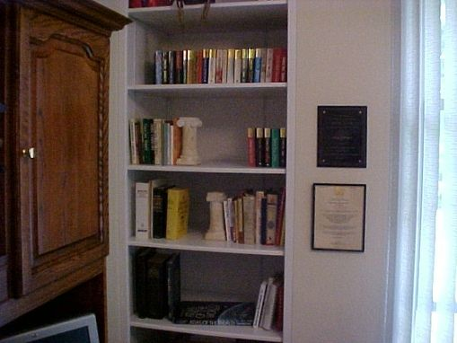 Custom Made Built-In Shelving Unit