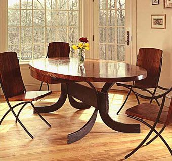 Essex Elliptical Dining Table And Chairs