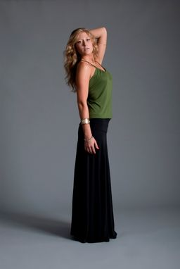 Custom Made Ultra Maxi Skirt In Black, Cocoa Or Olive Bamboo Jersey Knit / Foldover Waistband
