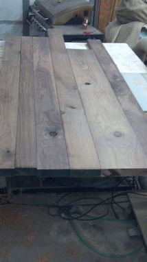 "Custom Made Reclaimed Wood ""Burden"" Table (Cypress)"
