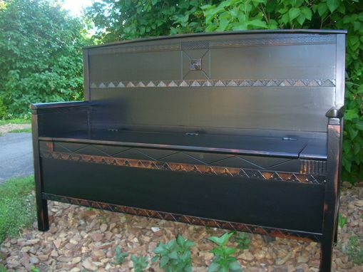 Custom Made Exquisite Handcrafted Deacon's Bench