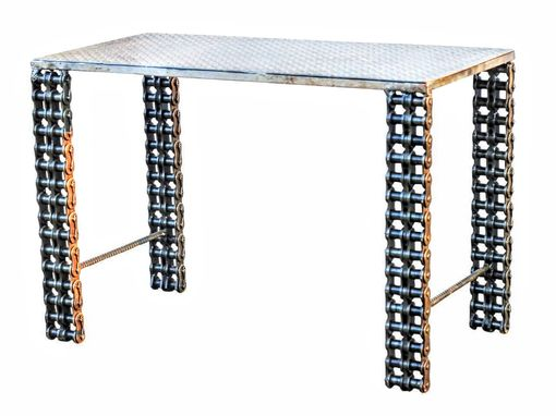 Custom Made Custom Made Industrial Furniture Sofa Table By Raymond Guest