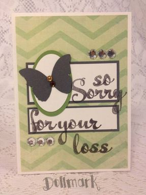 "Custom Made Handmade Greeting Cards ""Sympathy"""
