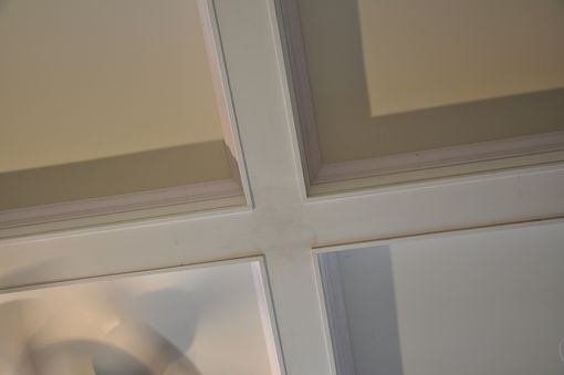 Custom Made Coffered Ceiling Installation.