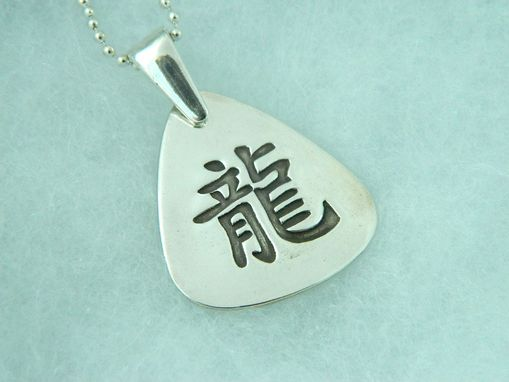Custom Made Dragon Kanji  Necklace  Chinese Astrology