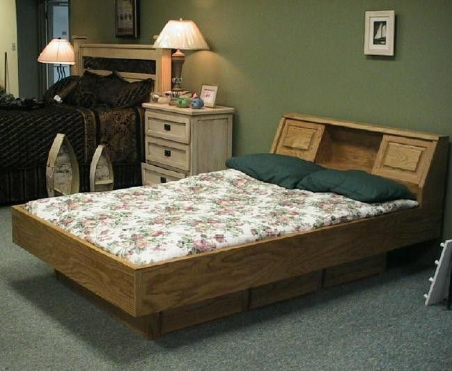 Hand Crafted Oak Waterbed By Wwbeds Custom Furniture