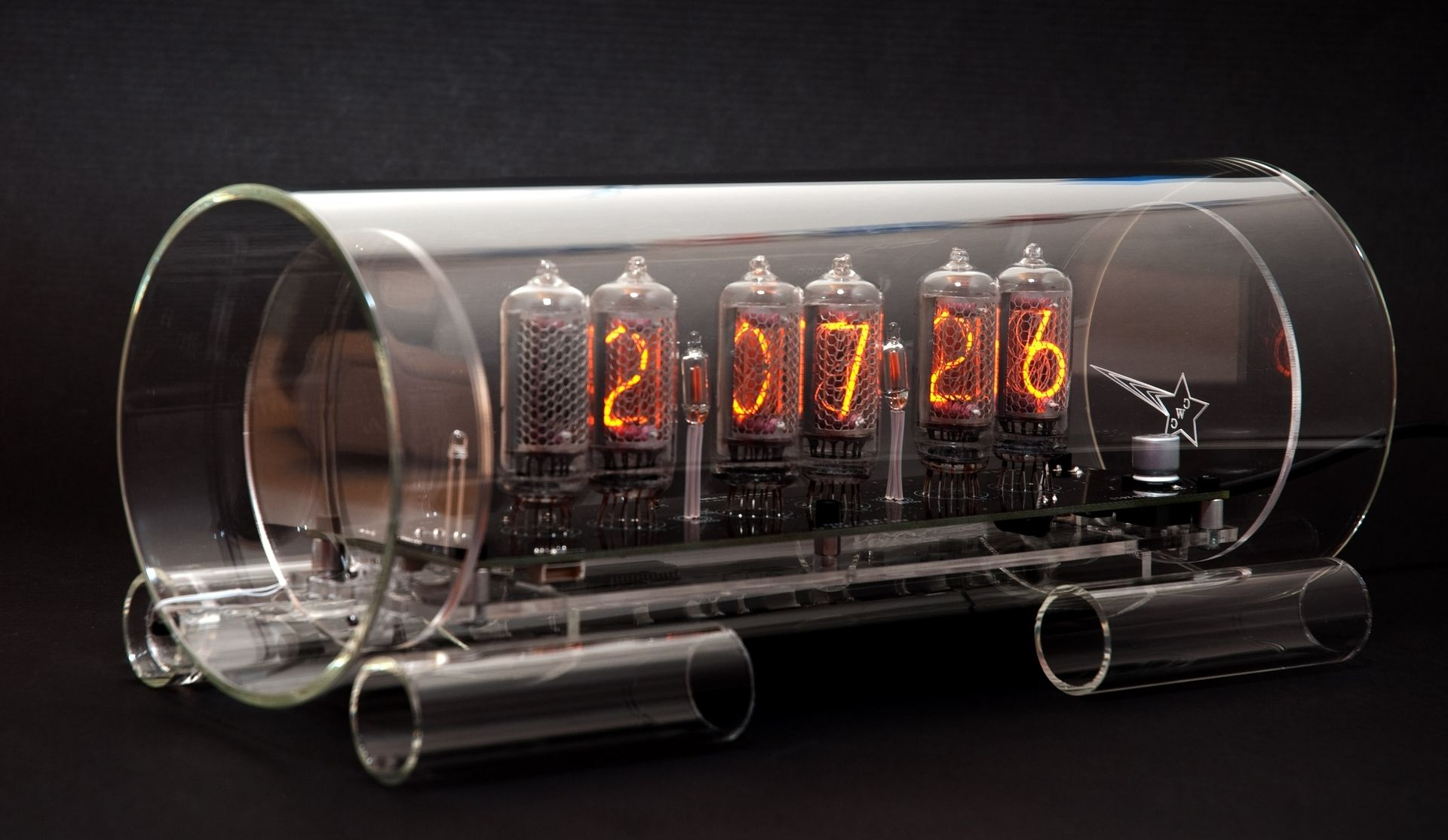 Buy A Custom Made Glass Nixie Clock In 8 2 Model Made To