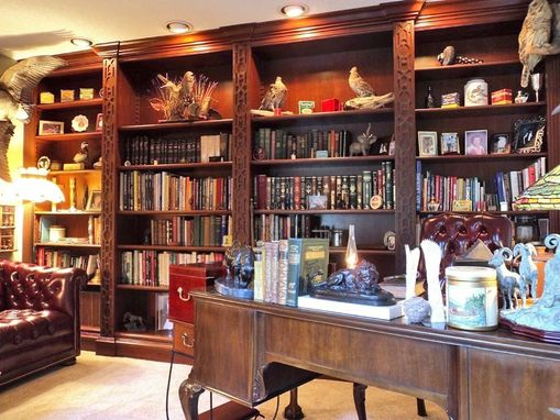 Custom Made Mahogany Bookshelves