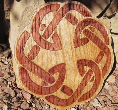 Custom Made Celtic Knot Carved Father Daughter Knot
