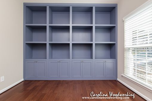 Custom Made Custom Built-In Bookcases With Cabinets