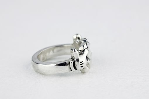 Custom Made Mickey Mouse Heart Claddagh Inspired Ring