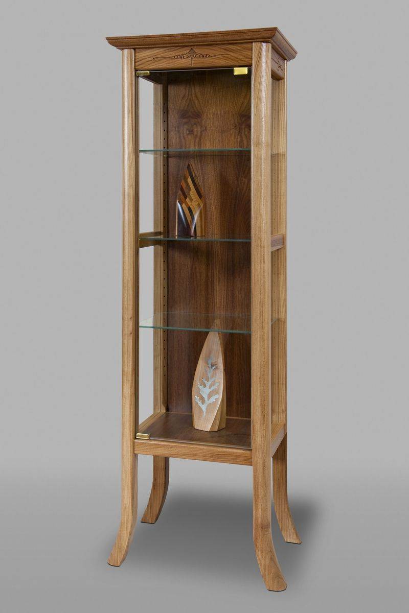 Handmade Curio Cabinet By Indigo Wood Amp Metalworks Iwm
