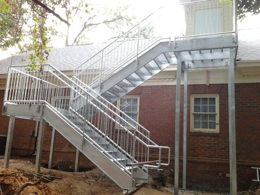 Custom Made Galvanized Stair System