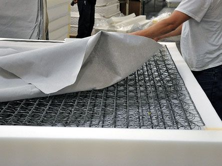 Custom Made Traditional Coil Mattress With Memory Foam And Silk Fabric Cover