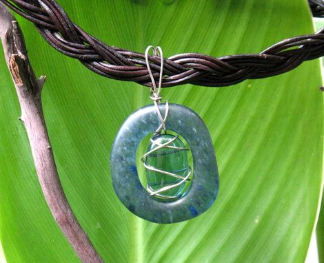 Custom Made Glass Pendant For Choker Or Chain