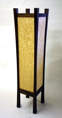 Custom Made Karelian Birch , Walnut Floor Lamp.