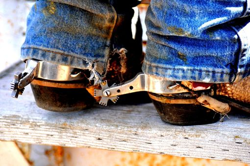 "Custom Made Western Art Photography ""Nice Pair Of Spurs''"