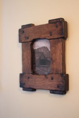 Custom Made An Artistic Approach On A Arts And Crafts Picture Frame/Mirror Frame