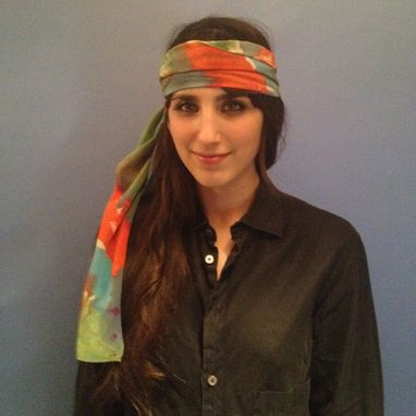Custom Made Bias Stripe Silk Scarf