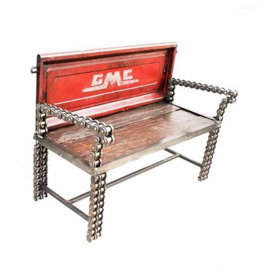 Custom Made Handmade Welded Chain Art Furniture - Truck Bench - Free Shipping