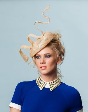 Custom Made Squiggly Straw Beret