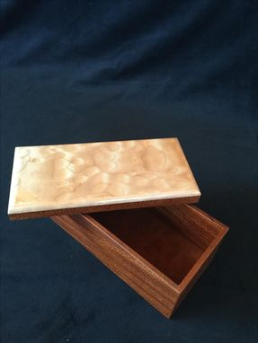 Custom Made Mahogany And Quilted Maple Box