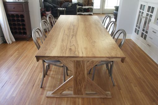 Custom Made X-Base Trestle Table