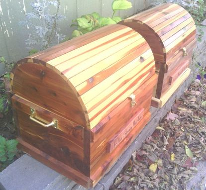 Custom Made Twin Wooden Treasure Chests