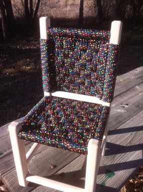Custom Made Kids Post And Rung Macrame Chairs