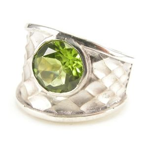 Custom Made Custom™ Collection Wide Peridot Ring