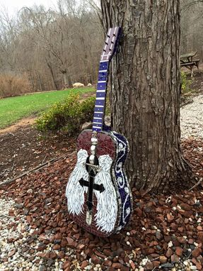 Custom Made Mosiac Stained Glass Guitar
