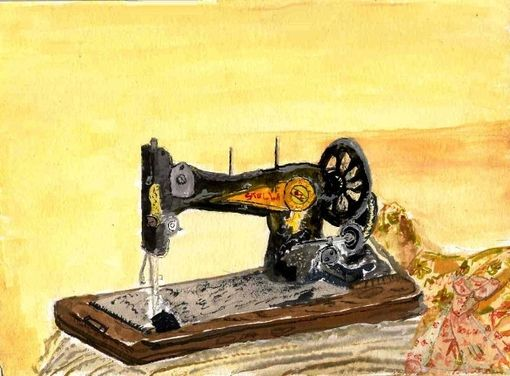 Custom Made Singer Sewing Machine Portrait