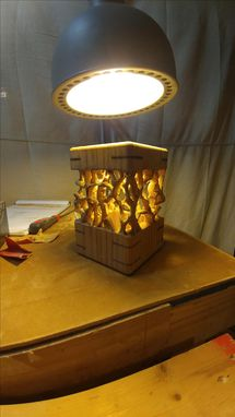 Custom Made The Winter Forest Lamp