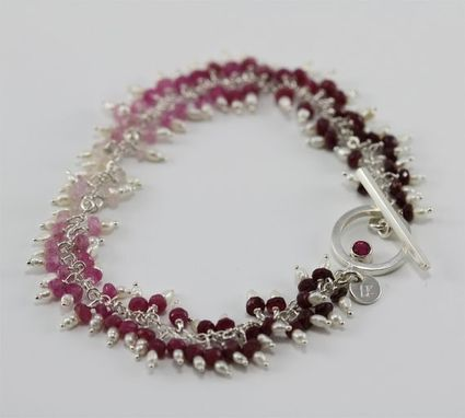 Custom Made Waterfall B'Let (Pink Sapphire, Pearls) (Made To Order)