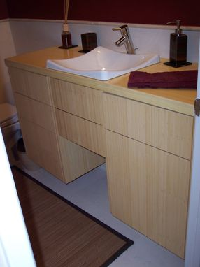 Custom Made Bamboo Bathroom Vanity