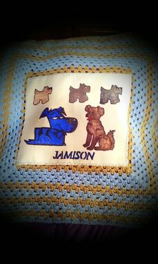 Custom Made Doggie Signature Baby Blanket