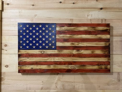 Custom Made Rustic American Flag