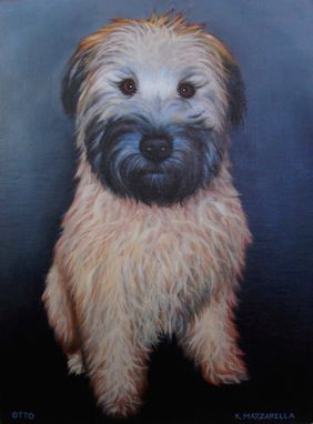 "Custom Made ""Otto"" Before And After Pet Portrait In Oil"