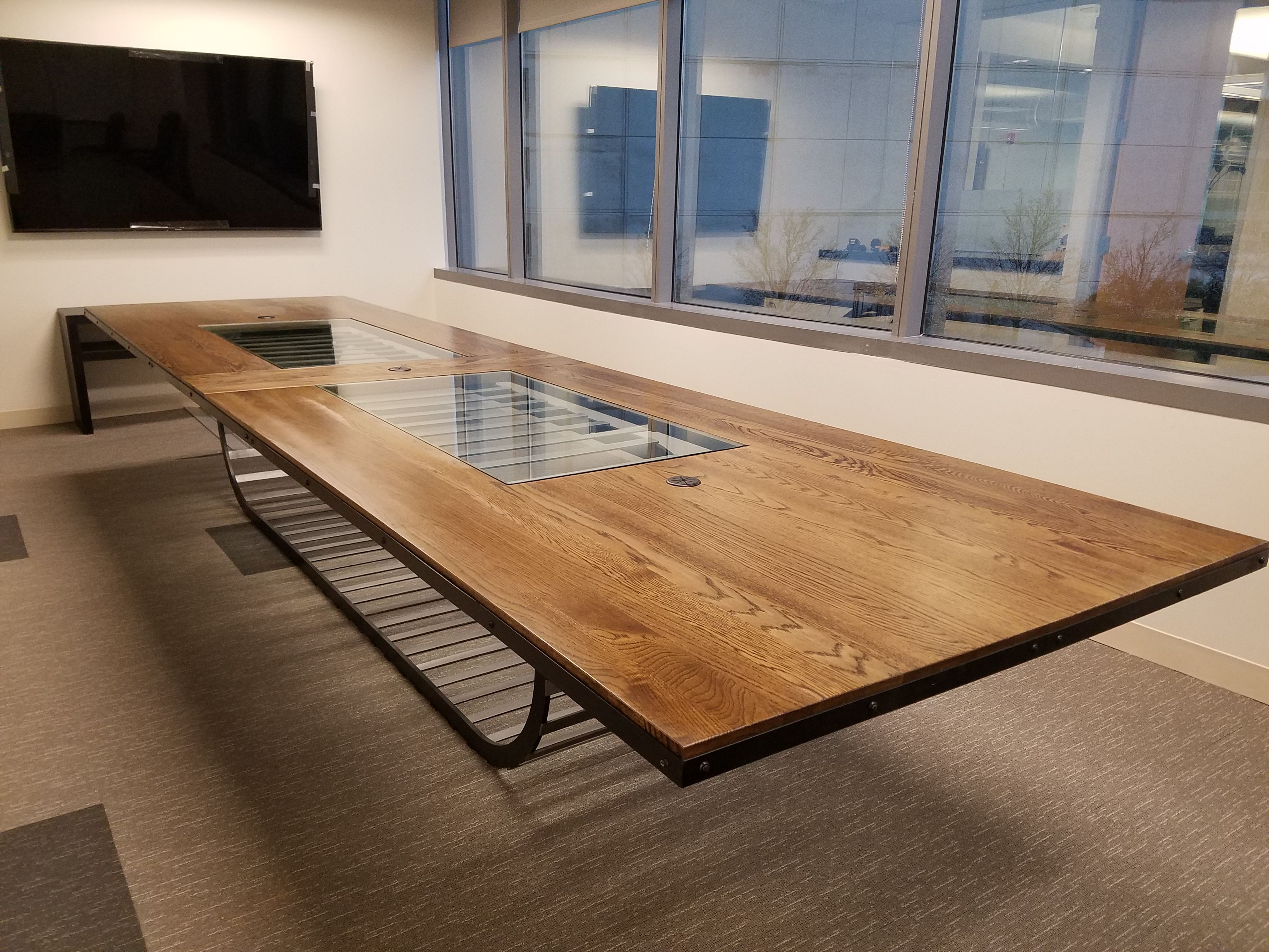 Handmade Extra Large Conference Room Table By Lundberg Industrial - Extra large conference table