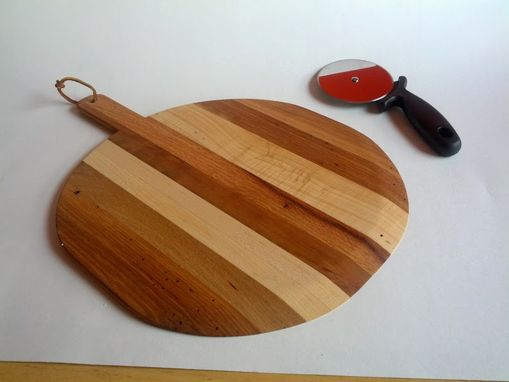 Custom Made Multi Wood Pizza Paddle & Cheese Board