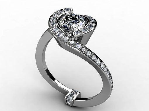 Custom Made White Gold Diamond Ring