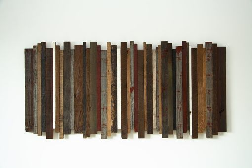 "Custom Made Reclaimed Wood Wall Art 41""X20"""