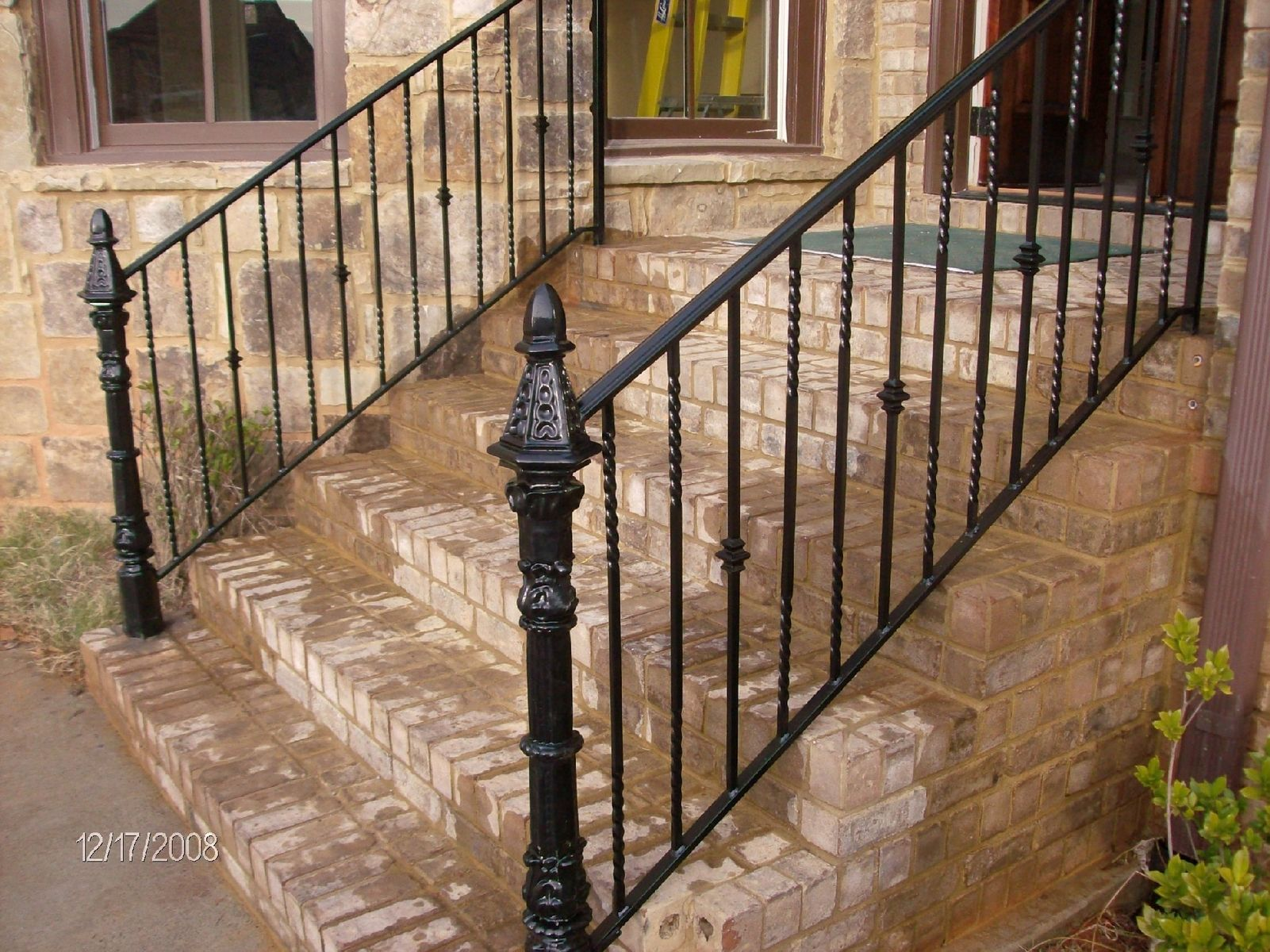 Handmade wrought iron railing by awesome and steel
