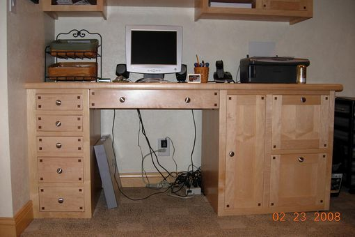 Custom Made Built In Computer Desk