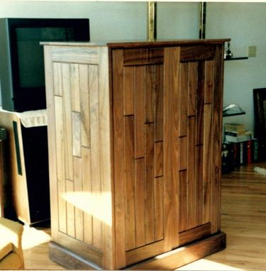 Custom Made Custom Designed And Fabricated Entertainment Cabinet